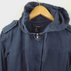 Forever 21 Jackets & Coats - Forever 21 navy hooded zip jacket sz Small